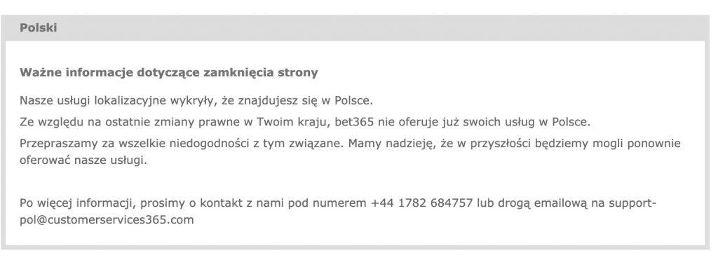 Bet365 w Polsce