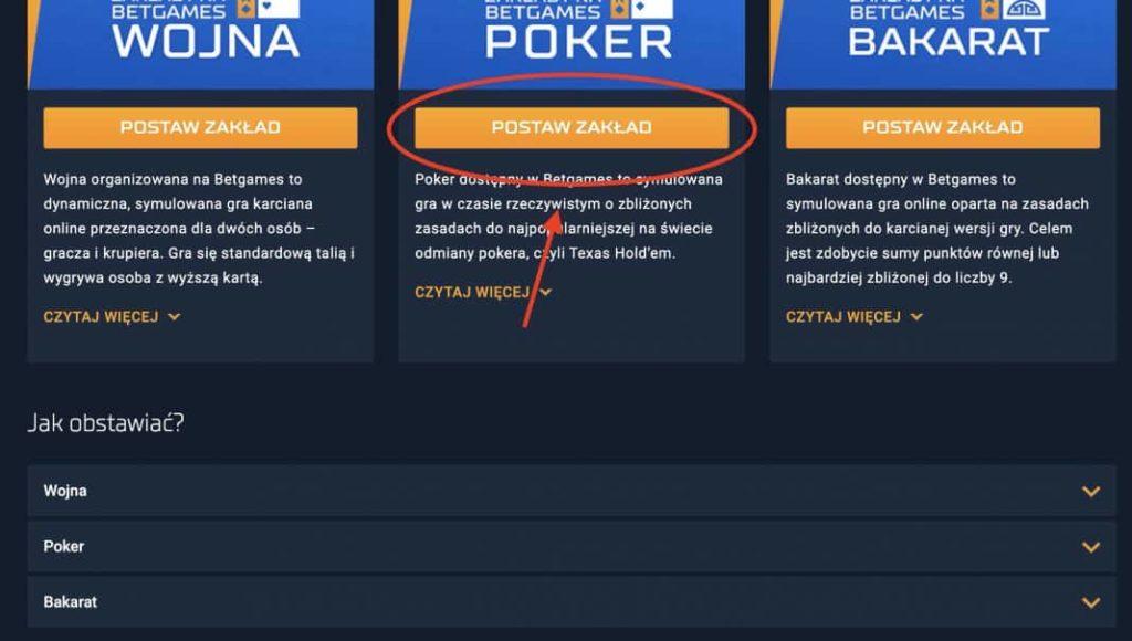 Legalny poker w Polsce STS - krok 2