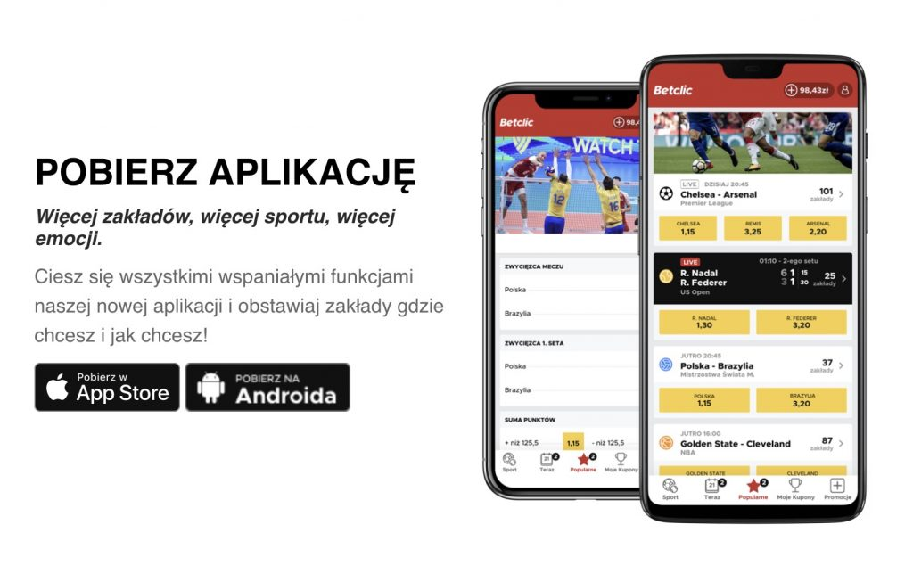 Betclic aplikacja na telefon