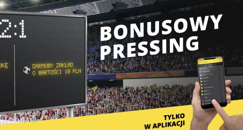 Bonusowy pressing, czyli 10 PLN od Fortuny na Ekstraklasę!