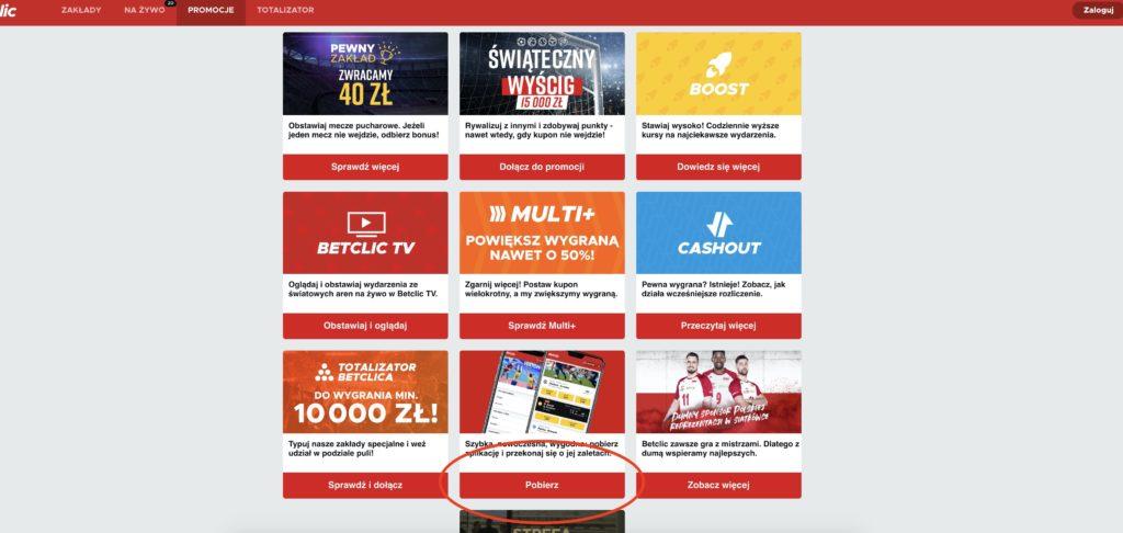 Betclic apk pobieranie online Android - krok 2