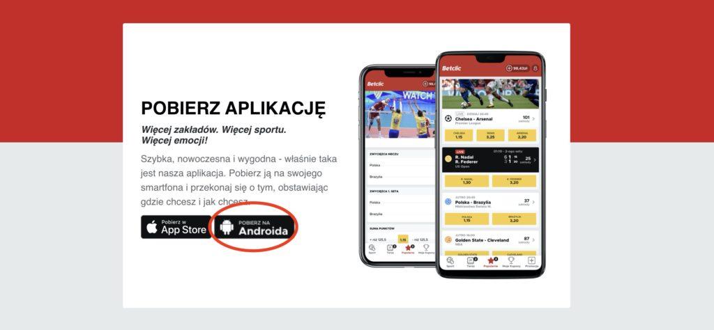 Betclic apk pobieranie online Android - krok 3