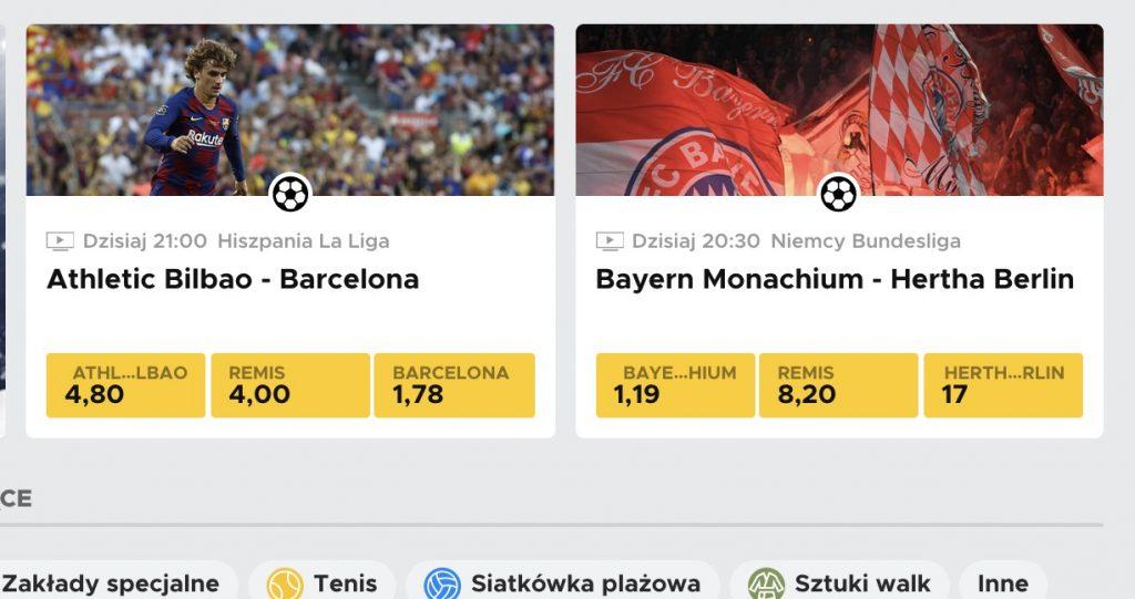 Betclic pokaże za darmo mecze Bayern - Hertha i Bilbao - Barcelona!