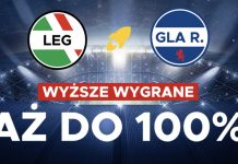 100 PLN w BetClic na mecz Legia - Rangers!