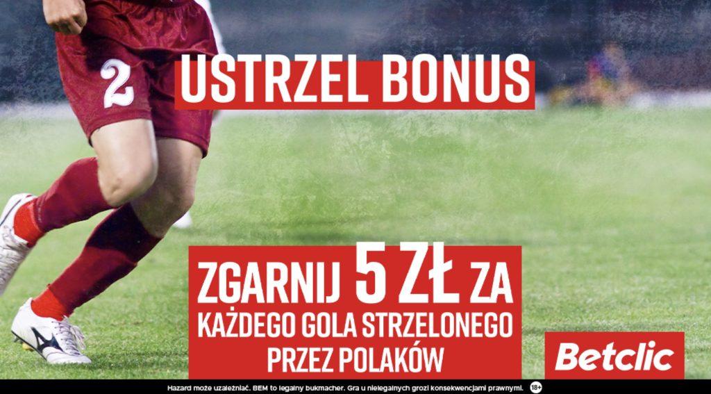 Betclic daje 5 zł za każdą bramkę Polaków przeciwko Łotwie!