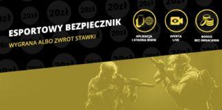 Zakłady bukmacherskie na Esport teraz ze zwrotem 20 PLN!