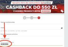 Wpisałeś w Betclic kod promocyjny? KOD550 na bonus cashback 550 PLN!