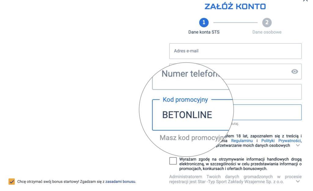 STS kod promocyjny na Euro 2020